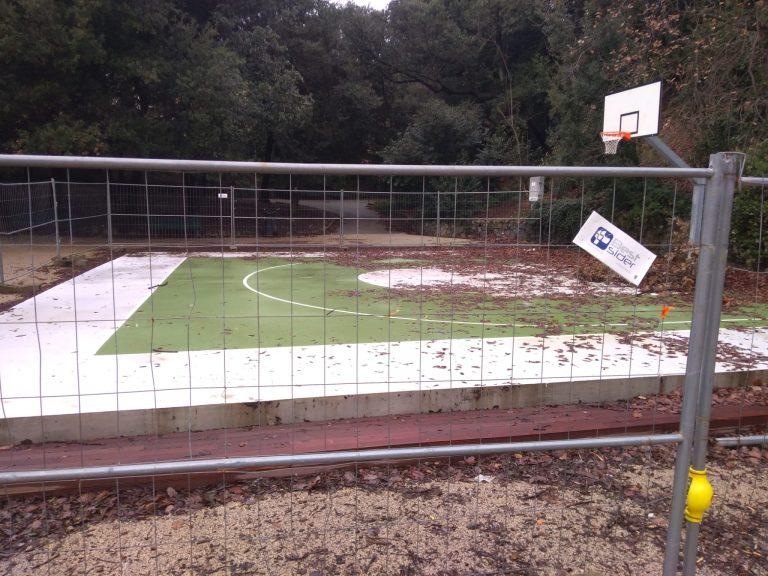 Pegli, villa Doria, Il campo da street basket